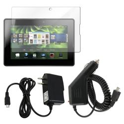 INSTEN 3-piece Screen Protector/ Car and Travel Charger for BlackBerry Playbook
