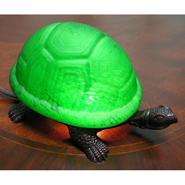 Warehouse of Tiffany Green Turtle Accent Lamps (Set of 2)