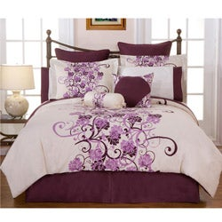 Grapevine Full-size 12-piece Bed in a Bag with Sheet Set