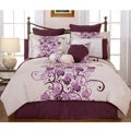 Grapevine Queen-size 12-piece Bed in a Bag with Sheet Set