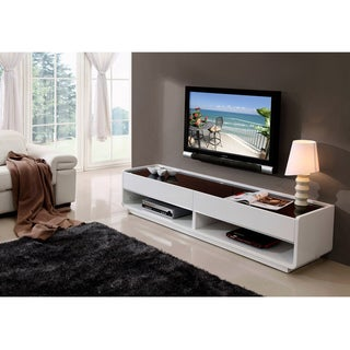 Modena White/ Black Two-drawer TV Stand