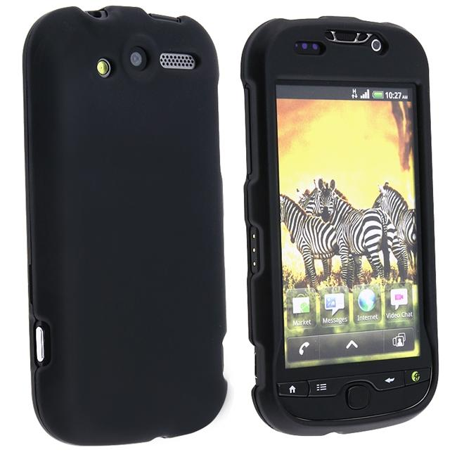 INSTEN Snap-on Black Rubber Coated Phone Case Cover for HTC MyTouch 4G
