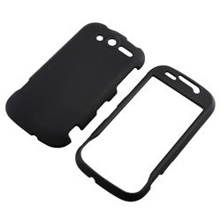 Snap-on Black Rubber Coated Case for HTC MyTouch 4G