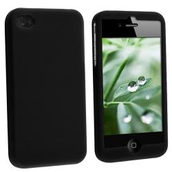 Black Silicone Case for Apple iPhone 4