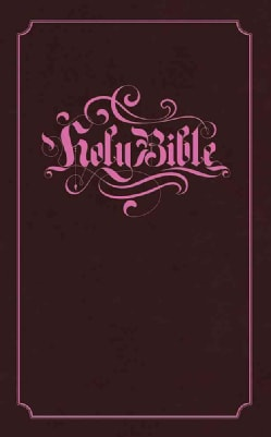 Holy Bible: King James Version Brown with Pink Foil Stamping Flexisoft Leather (Paperback)