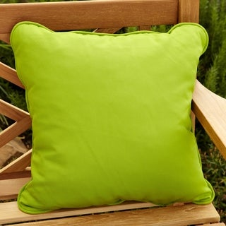 Clara Outdoor Green Accent Pillows Made With Sunbrella (Set of 2)