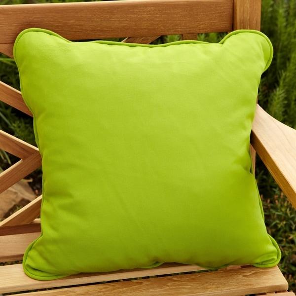 Clara Outdoor Green Accent Pillows Made With Sunbrella (Set of 2)