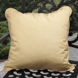 Clara Indoor/ Outdoor Yellow Pillows made with Sunbrella (Set of 2)