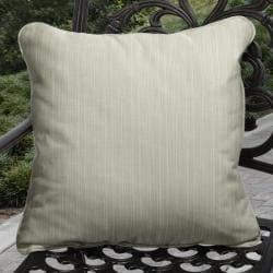 Clara Outdoor Textured Light Green Pillows Made With Sunbrella (Set of 2)