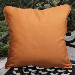 Clara Outdoor Tangerine Pillows Made With Sunbrella (Set of 2)
