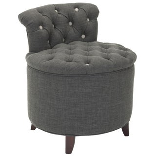 Safavieh Toulon Tufted Grey Vanity Stool