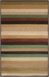 Woven Warm Stripes Natural Indoor/Outdoor Rug (7'6 Square)