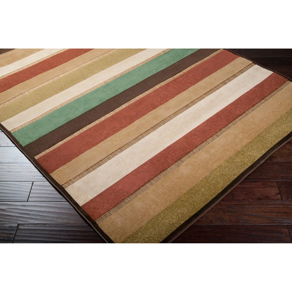 "Woven Warm Stripes Indoor/Outdoor Rug (2' 6"" x 7' 10"")"
