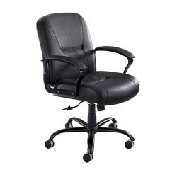 Safco Serenity Big and Tall Leather Mid-back Office Chair