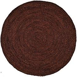Hand-woven Brown Jute Braided Rug (6' x 6' Round)