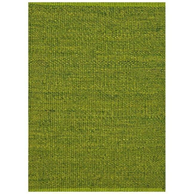 Hand Woven Starks Rug Green 5×8