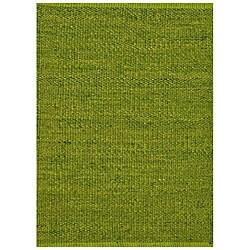 Hand-woven Green Jute Rug (8' x 11')