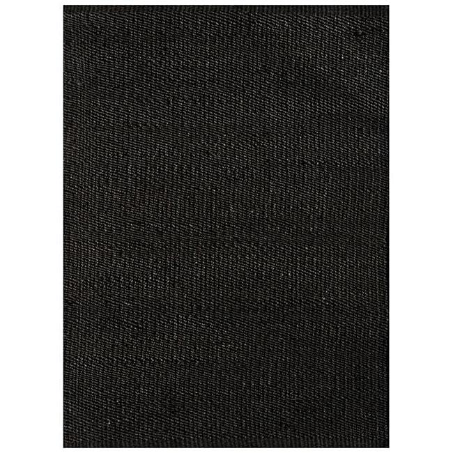 Handwoven Black Jute Area Rug (5' x 8')