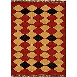 Handwoven Kilim Wool Area Rug (8' x 11')