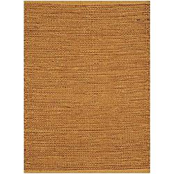 Hand-woven Beige Jute Rug (5'x 8')