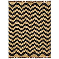 Transitional Handwoven Kilim Wool Rug (5' x 8')