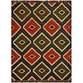 Transitional Hand-Woven Kilim Wool Rug (4' x 6')