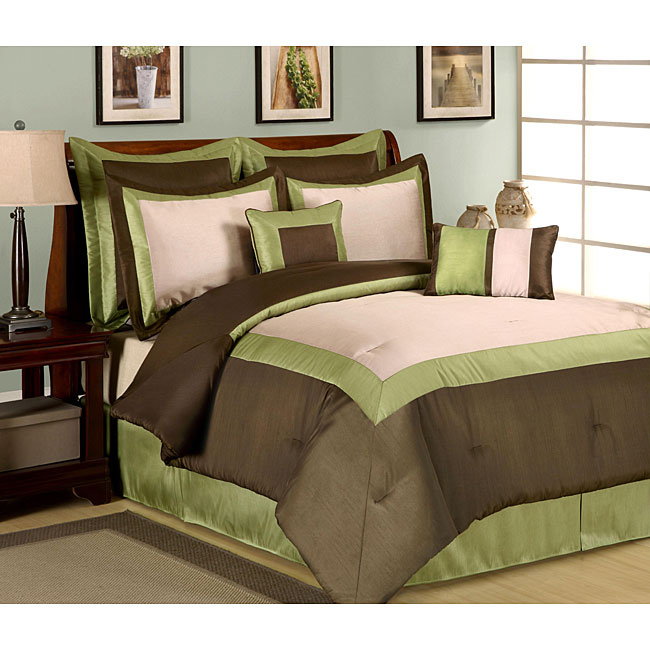 Hotel Green 8 Piece Comforter Set 13588663 Overstock