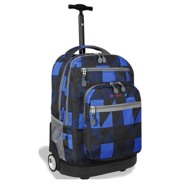 J World Block Navy 'Sundance' Rolling 15-inch Laptop Backpack