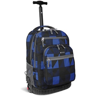J World Block Navy 'Sundance'  19.5-inch Rolling Backpack with Laptop Sleeve
