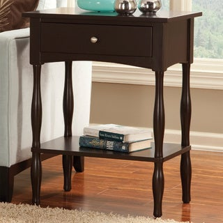 VP Home Chocolate Brown Fair Haven End Table