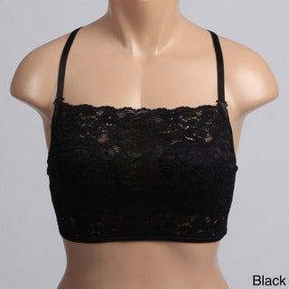 Scallop Lace Strapless Mini Camisole (2 Pack)