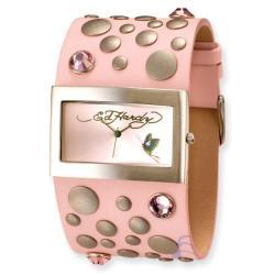 Ed Hardy Women's Pink Love Child Watch