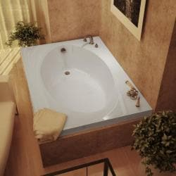 Vogue 60 x 42 White Soaker Tub