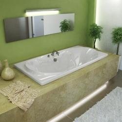 Whisper 72 x 36 White Soaker Tub