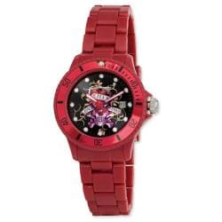 Ed Hardy Unisex Acrylic VIP Red Watch