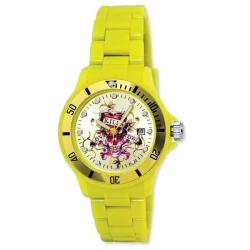 Ed Hardy Unisex Acrylic VIP Yellow Watch