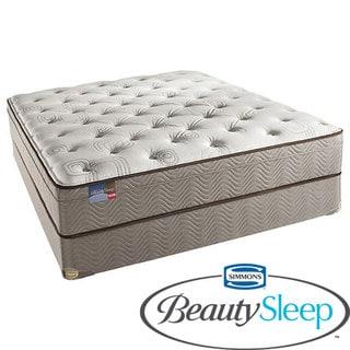 Simmons BeautySleep Fox Hollow Euro Top King-size Mattress Set