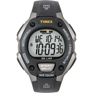 Timex 'Ironman Triathlon' 50-Lap Gray and Black Athletic Watch