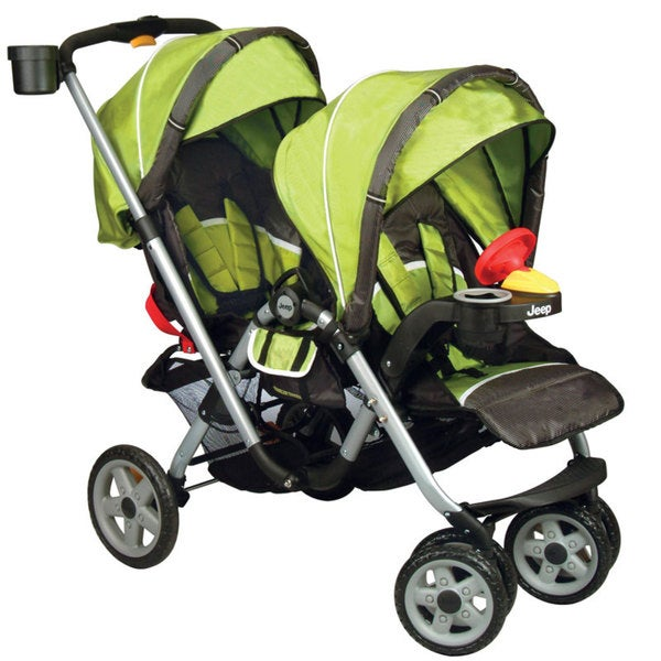 Jeep Traveler Tandem Double Stroller in Spark