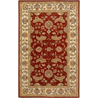 Hand-tufted Kaiser Red Wool Rug (4' x 6')