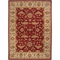 Hand-tufted Kaiser Red Wool Rug (8' x 11')