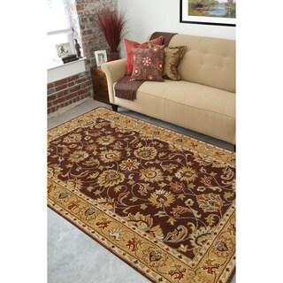 Hand-tufted Casa Plum Wool Rug (5' x 8')