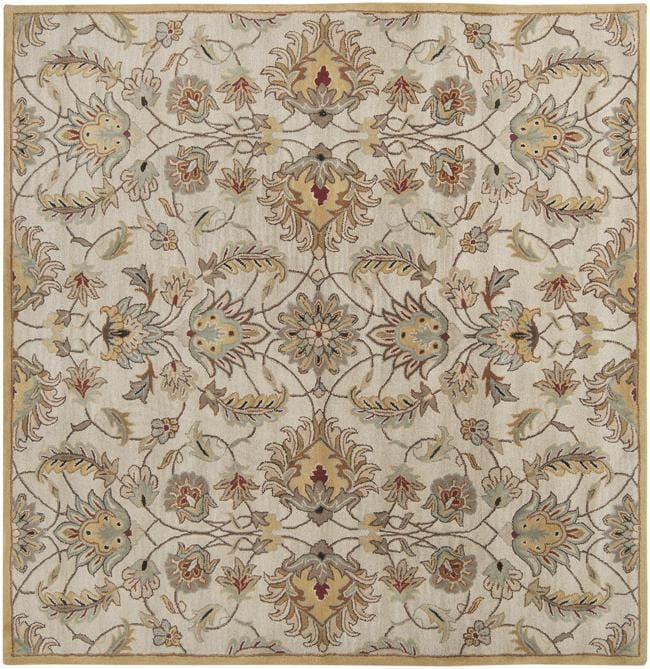Hand-tufted Stage Gold Wool Rug (8' x 8')