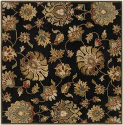 Hand-tufted Caper Black Wool Rug (9'9 Square)