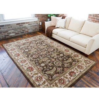 Hand-tufted Brute Brown Wool Rug (9' x 12')
