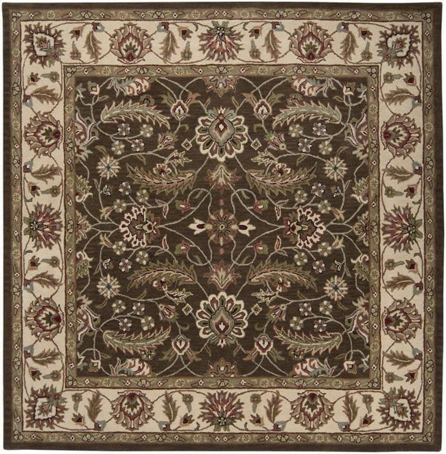 Hand-tufted Brute Brown Wool Rug (4' x 4')