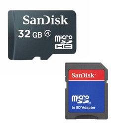 SanDisk SDSDQ-032G 32GB MicroSD High Capacity with SD Adapter