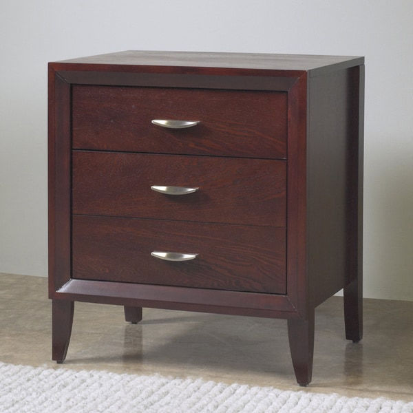 2-drawer Nightstand with Half Moon Pulls