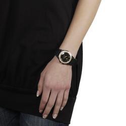 Geneva Platinum Women's Fleur De Lis Silicone Watch