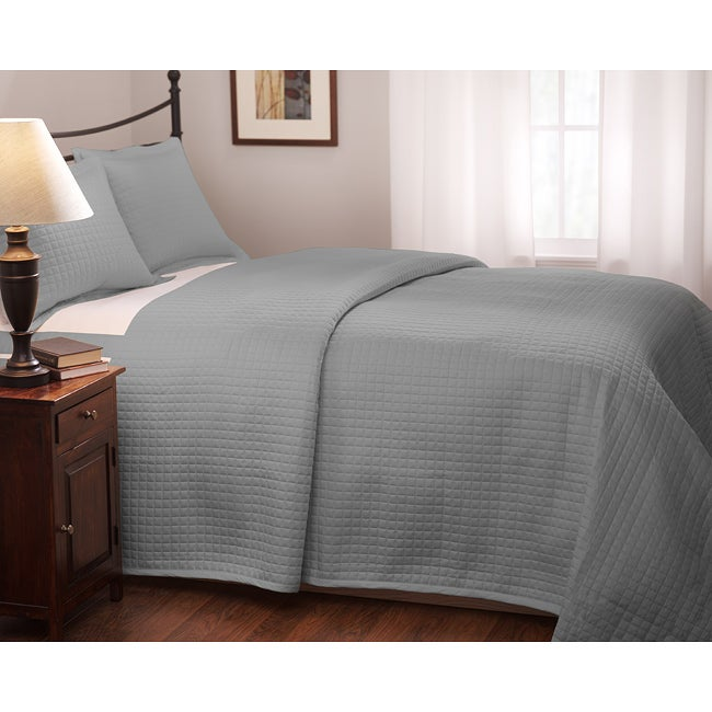 Roxbury Park Quilted King Size Platinum Coverlet